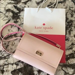 Soft Pink & Hot Pink Kate Spade Crossover Purse